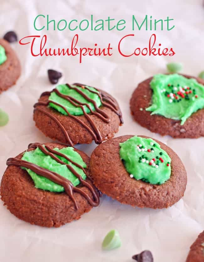 Mint Chocolate Thumbprint Cookies {#BloggersForSandyHook}